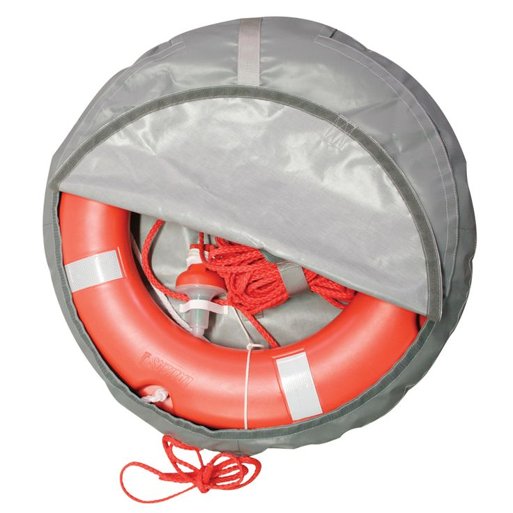 Set Lifebuoy Ring SOLAS 75cm, Lifeb. Light 71325, 30m rope, case gray thumb image 1