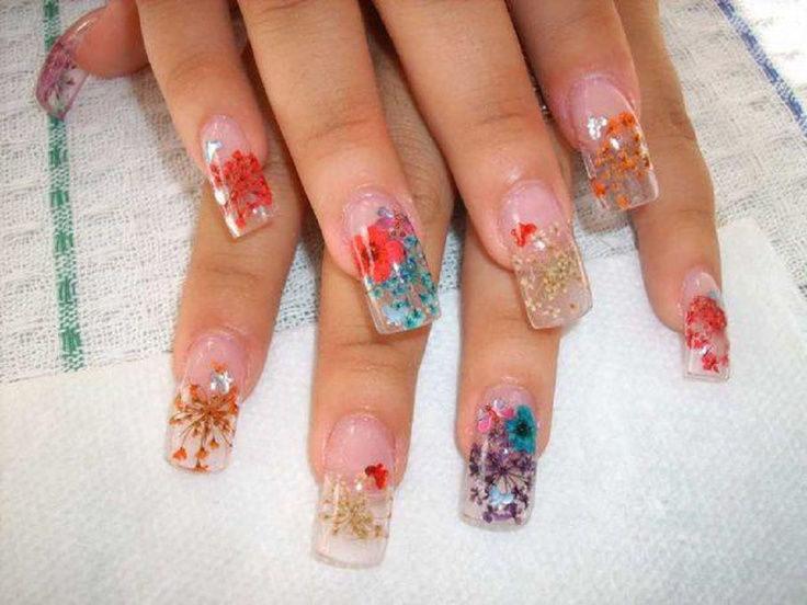 53 best Nails:Flowers images on Pinterest | Nail design, Nail ...