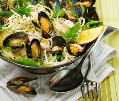 Recept: Frutti de mare pasta med dill och citron