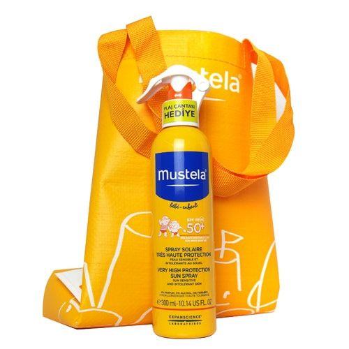 Mustela Very High Protection Sun Spray 300ml YENİ Plaj Çantası HEDİYE | 93,42 TL | Dermoeczanem.com