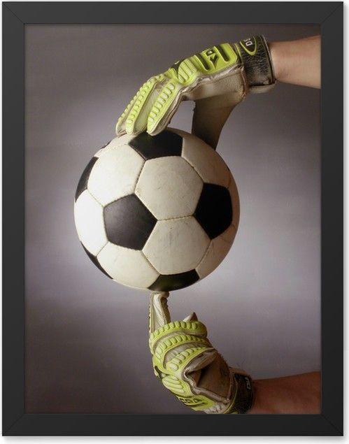 Plakat W Ramie Piłka Nożna Pixers żyjemy By Zmieniać W