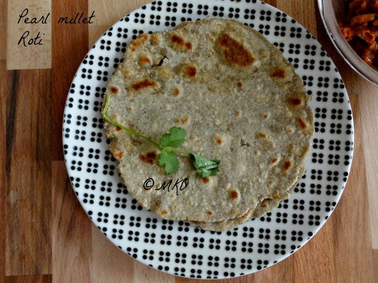 Bajra Roti/Kambu Roti with wheat flour.If you are bored with regular chapathi try this healthy dinner.