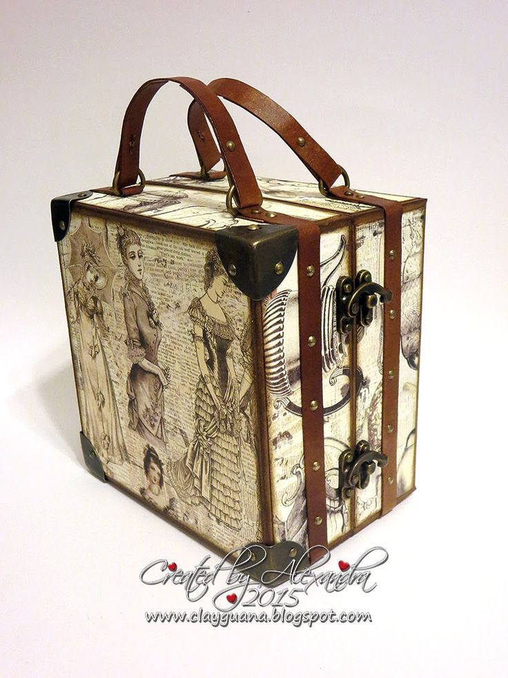 Hello everyone! Here's the part 1 of the tutorial which will show you how to create a vintage style suitcase and a mini album with a drawer to fit inside. Ch... - Love the door