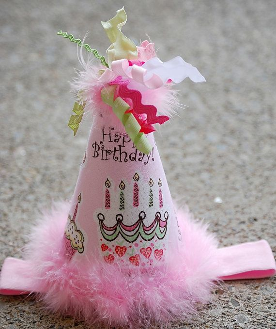 boutique HAPPY BIRTHDAY party bow hat by andjane on Etsy, $18.99