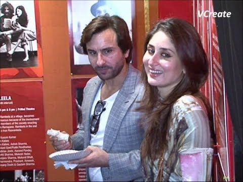Kareena Kapoor and Saif Ali Khan spotted at naseerudin shah's play.