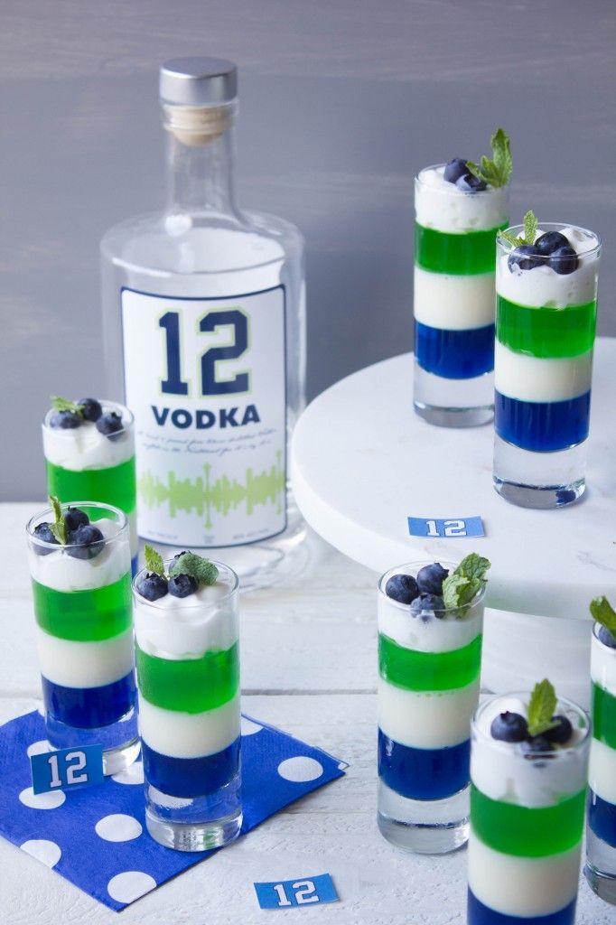 Seahawks Vodka Jello Shots
