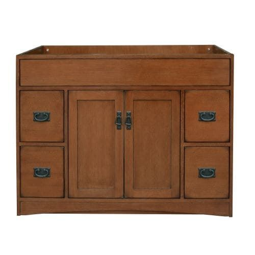 Sunny Wood MO4821D Mission Oak (Brown) 48 Vanity Cabinet Only
