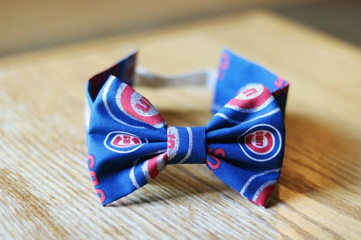 Handmade Chicago Cubs Headband - Chicago Headband - Cubs Apparel - Sports Team Headband - Big Baby Bow - Handmade Baby Headband