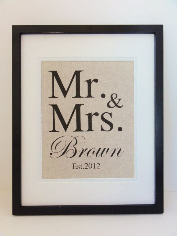 New Cotton Anniversary Gift MR MRS The Perfect For 2nd Year Gifts WeddingWedding