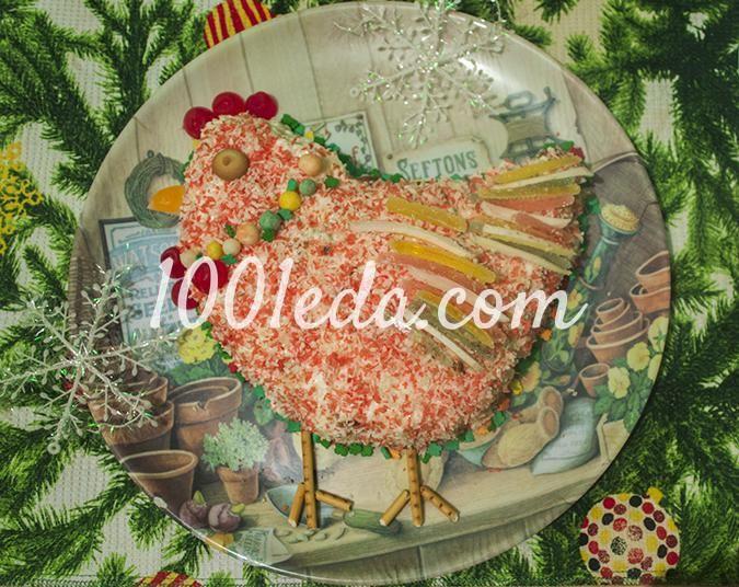 Новогодний торт Огненный петух 2017: рецепт с пошаговым фото