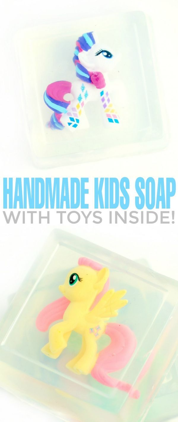 Make hand washing more fun for the kids by making your own soap and putting a toy inside with this easy recipe and tutorial!