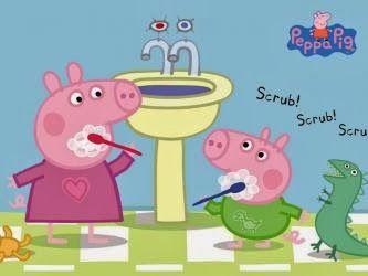 peepa pig and jorge cepillan sus dientes!