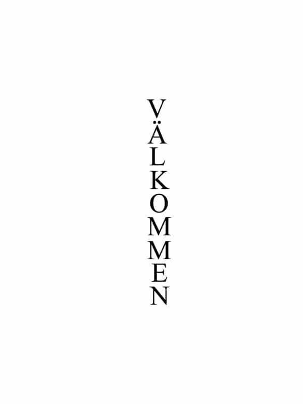 Väggtext - Välkommen, passande till barnrummet.