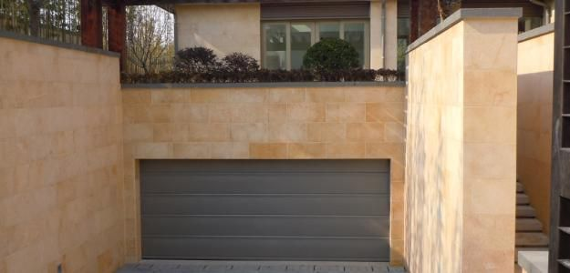 Legacy Flush Panel Steel door with powder coated finish - Slate Grey Finish by Martin Garage Doors.