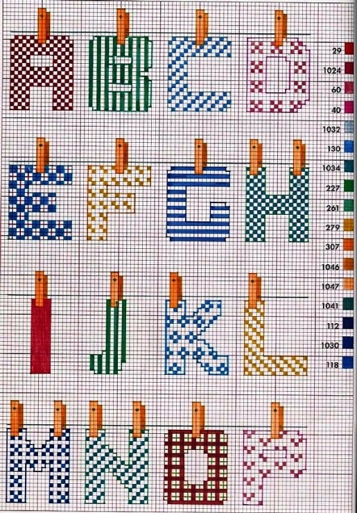 Cross stitch alphabet abecedarios a punto de cruz for Lettere a punto croce schemi