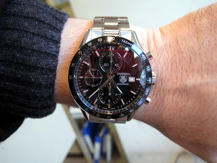 【タグ・ホイヤー - カレラ クロノグラフ レーシングスペシャル】 ★T・K様 ★理由/クロノ系が欲しくて、この時計がカッコ良かったからです!