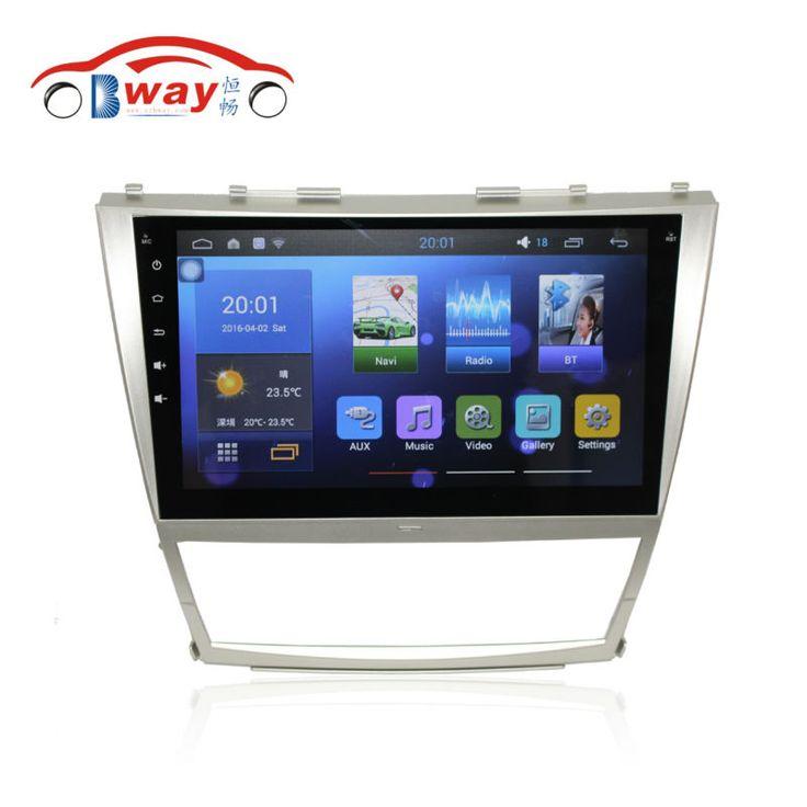 """Gratis pengiriman 10.2 """"radio mobil untuk Toyota Camry 2006-2011 Quadcore Android 5.1 mobil dvd dengan GPS, 1G RAM, 16G iNand, roda kemudi"""