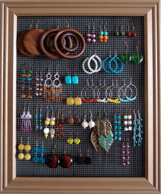 53 best images about ways to hang your jewelry on pinterest jewelry hanger jewelry displays. Black Bedroom Furniture Sets. Home Design Ideas