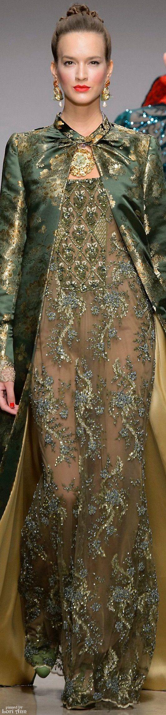 Raffaella Curiel Couture Fall 2015 ~#gorgeousgreen