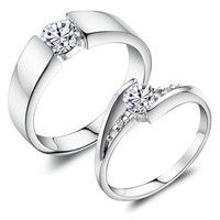 I think you'll like 18K White Gold Plated  *** 2 pcs. set ***   Art. RJ045 Couple Ring. Add it to your wishlist!  http://www.wish.com/c/52faa16e34067e0925c59b9b