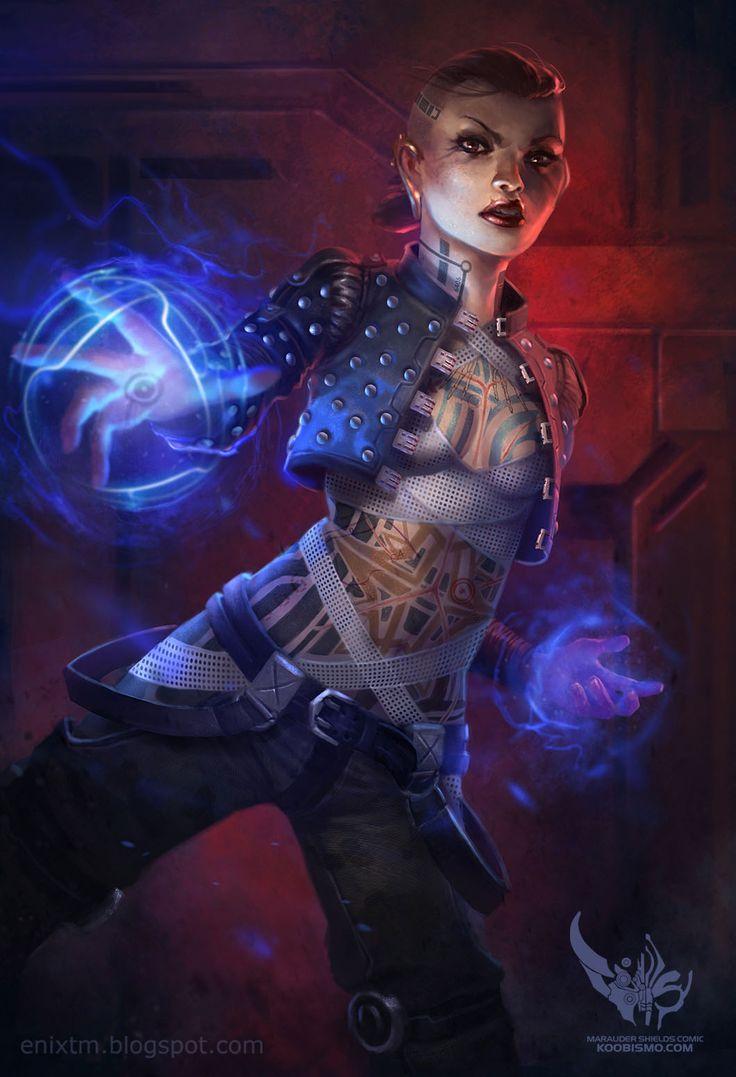 Jack, Mass Effect 2. Period: Contemporary. Genre: fanart.