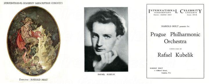 The visit to the Usher Hall, Edinburgh on 23rd Oct 1937 of the Prague Philharmonic Orchestra with Rafael Kubelik.