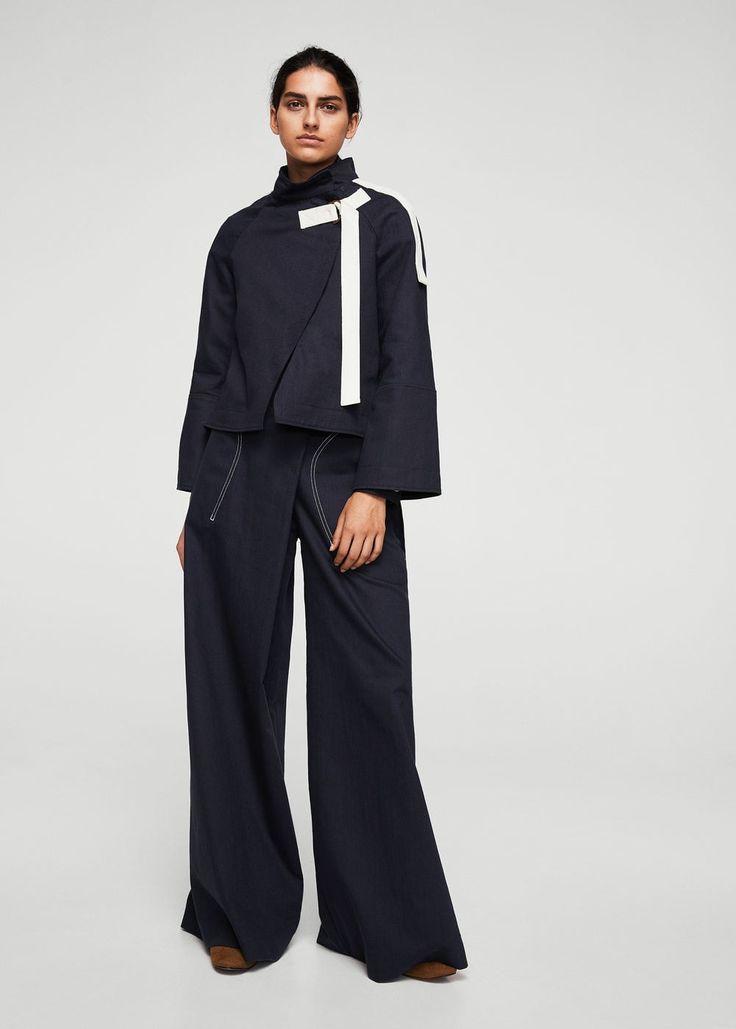 Kurtka w stylu kimono z bawełny organicznej | MANGO