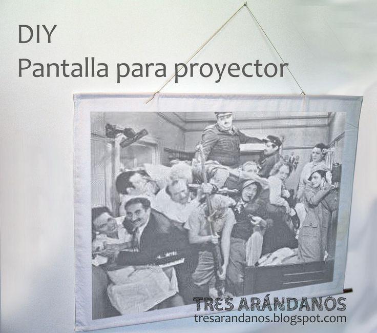 como hacer una pantalla para proyector casera / homemade cinema screen #tresarandanos #diy #proyector #manualidades