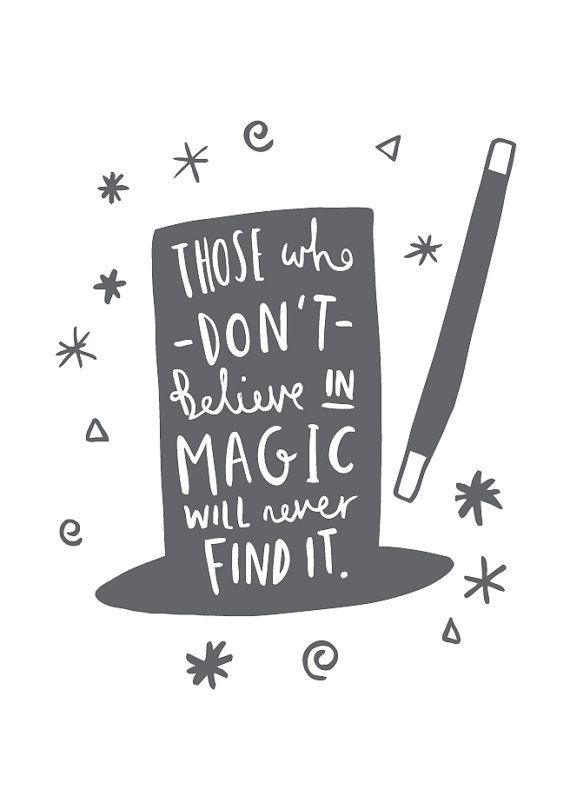 A4 Magic Print Roald Dahl Quote