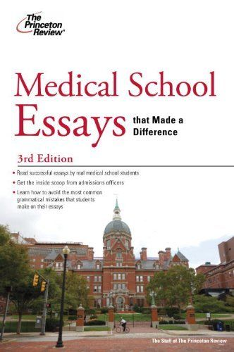 Medical school essays that made a difference