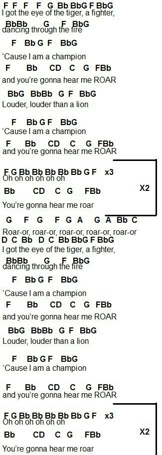 Old Fashioned Guitar Chords For Eye Of The Tiger Component ...