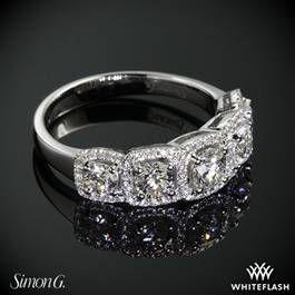 Simon G MR2630 Caviar Right Hand Ring