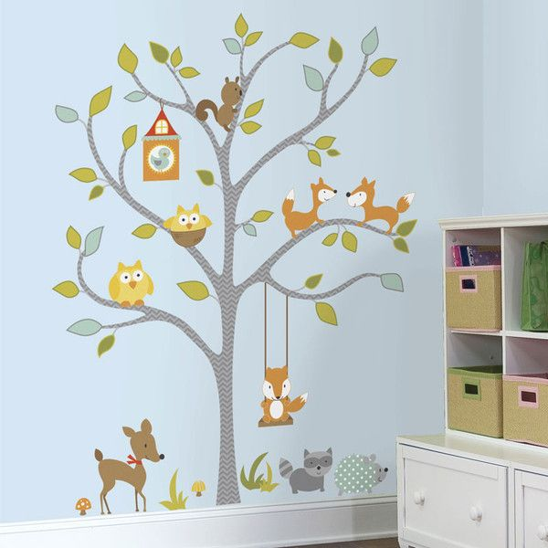 RoomMates wallsticker, Woodland Fox tree - XL