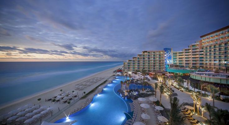 Hard Rock Hotel Cancun All inclusive Resort. Enjoy party in this All Inclusive Hotel in the Cancun Hotel Zone close to party and nightlife in Cancun. #CancunAllinclusiveResorts #Cancun #Hotels #Travel #Mexico