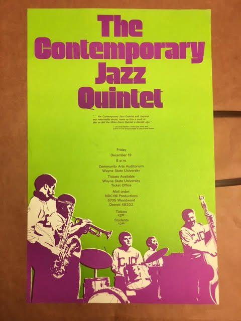 Contemporary Jazz Quintet Original poster original Wayne State