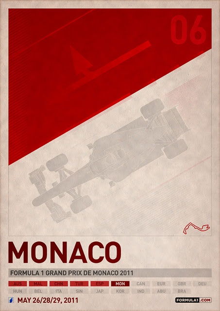 Grand Prix of Monaco May 26-29, 2011 by PJ Tierney...love poster design