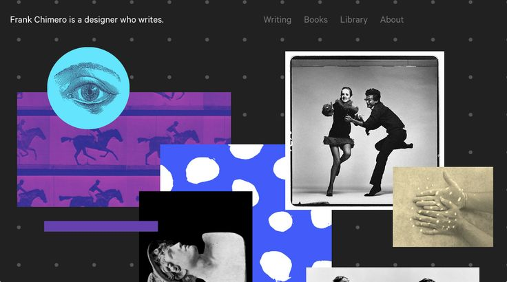 Frank Chimero - dark site with bold colors and patterns #webdesign #portfolio