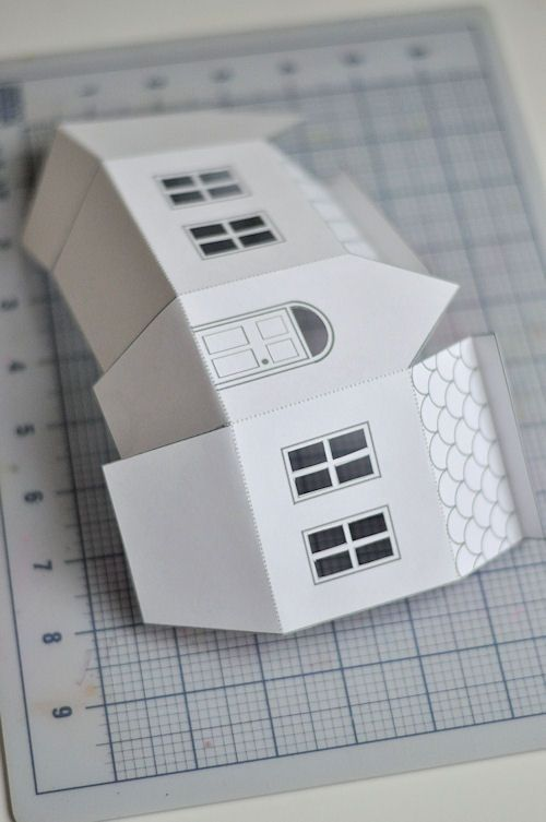 Best Mini Houses Images On   Paper Houses Christmas