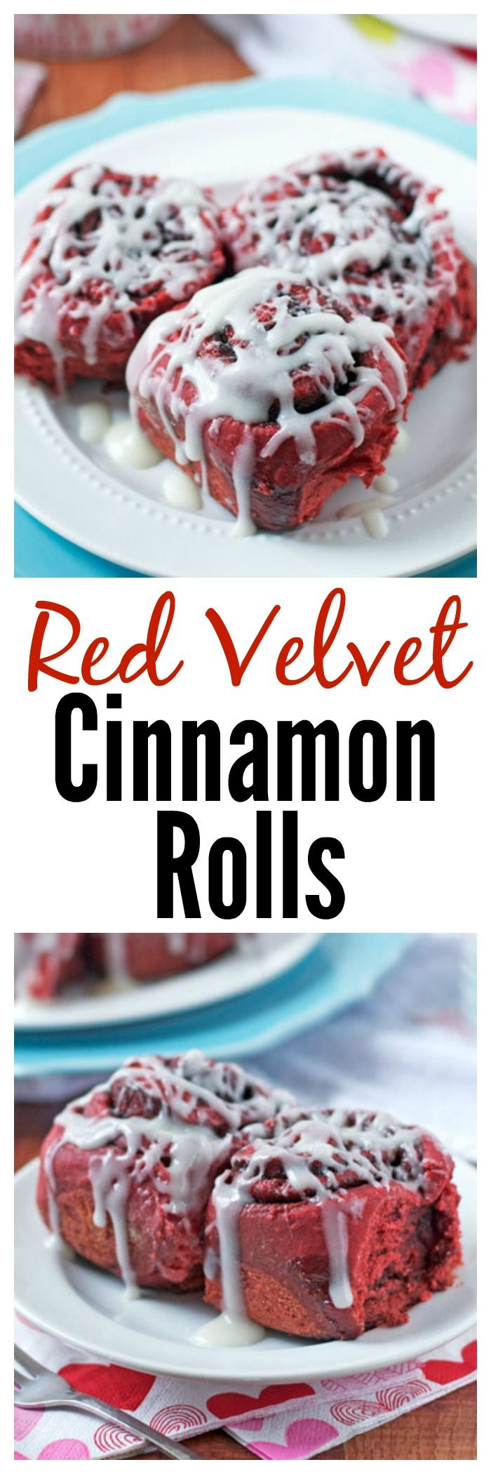 Love these for Christmas breakfast! Red Velvet Cinnamon Rolls. These can be made…