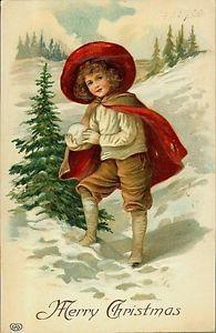 Calamita-Magnete-da-frigo-Natale-Vittoriano-Bambini-Numero-16