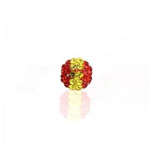 10x10mm Kristall Strass Beads Spanien Flagge hochwertige