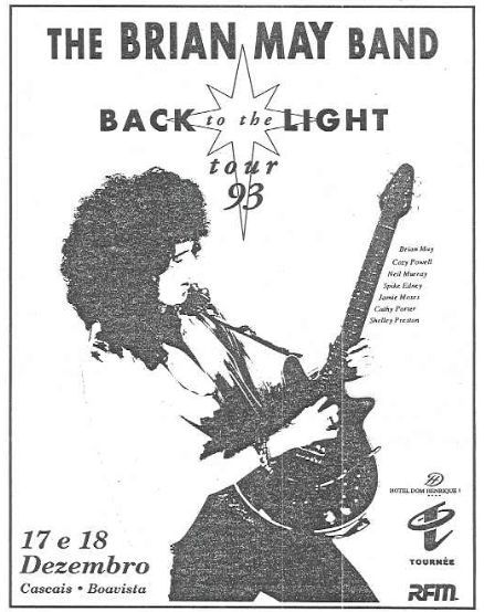 Cartaz concerto Brian May em Cascais