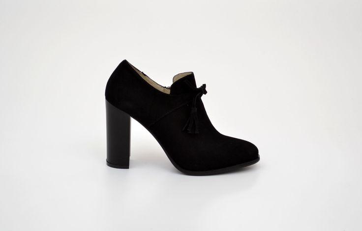 Pantofi damă negri din piele naturală întoarsă - Femei / Pantofi dam - GiAnni