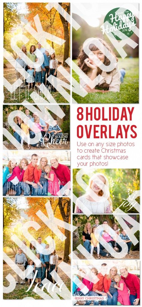 Free Christmas Card Templates and Overlays | www.momandcamera.com