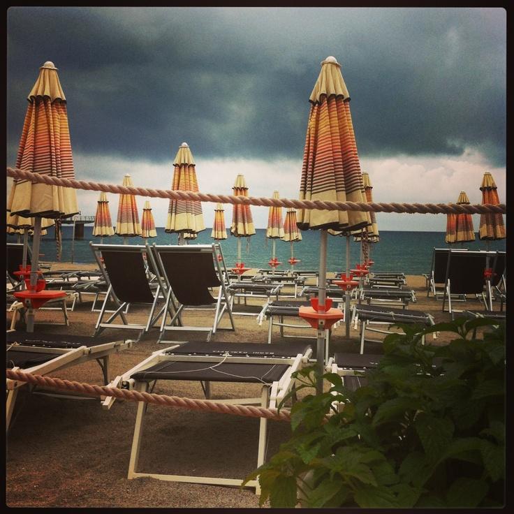 Hurricane or Mary Poppins arriving?  #bagnicarlotta #ceriale #italy #liguria