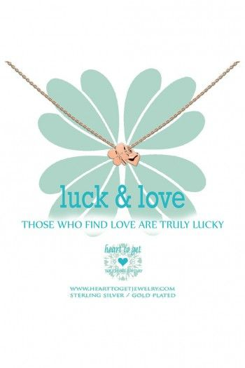 Heart to Get ketting Clover and Heart N19CLH11R-1 | JewelandWatch.com