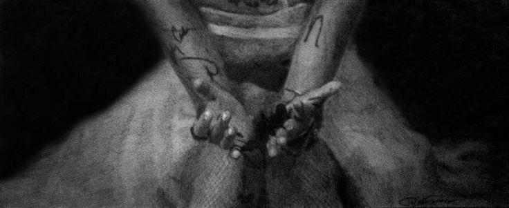 Love/Hand/Broken/Graphite/Drawing
