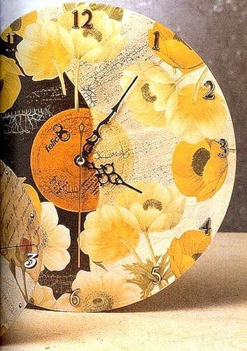 Uhr aus der Schallplatte