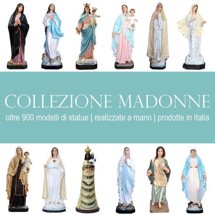 La raccolta di statue raffiguranti la Madonna. Dalla Madonna di Medjugorje alla Madonna di Fatima, dalla Madonna di Lourdes alla Madonna di Loreto, da Maria di Nazareth a Maria Bambina