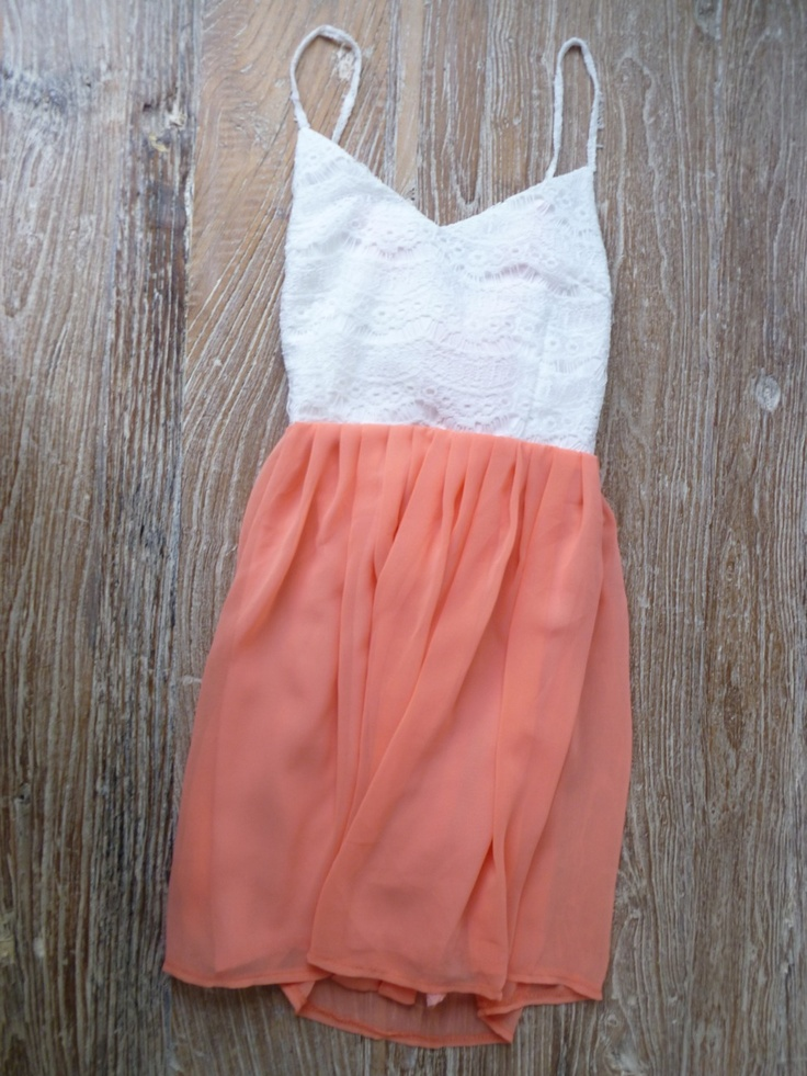 simpleCoral And Lace, Summer Dresses, Spring Dresses, Lace Dresses Summer, White Lace, Make Summer Clothing, Sun Dresses, Sundresses, Perfect Summer